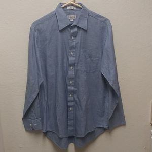 Christian Dior L Blue Dress Shirt